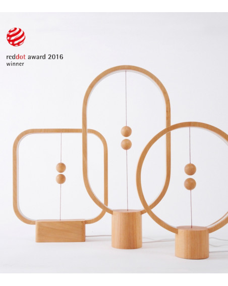 Lampe Heng Balance Ellipse en bois