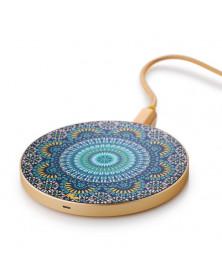 Chargeur sans fil Moroccan Mosaic & Or de Marie Wolt