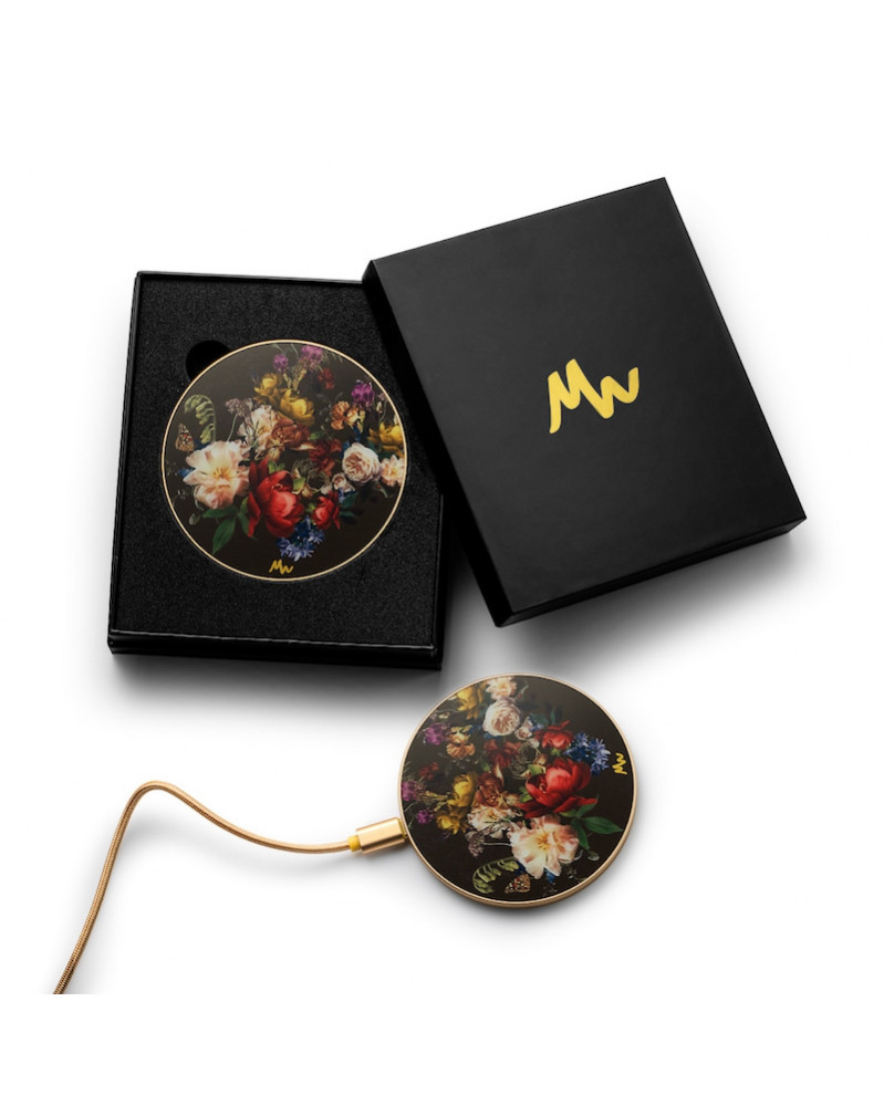 Chargeur sans fil Vintage Flowers & Or de Marie Wolt