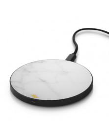 Chargeur sans fil Marbre Blanc de Marie Wolt