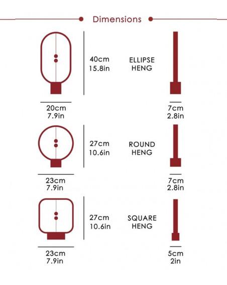 Lampe Heng Balance Ronde en bois