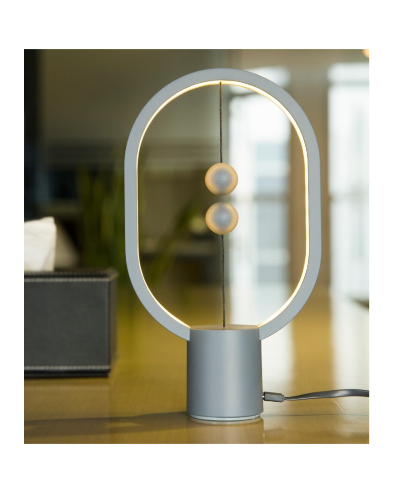 Lampe Heng Balance Ellipse Mini Gris clair