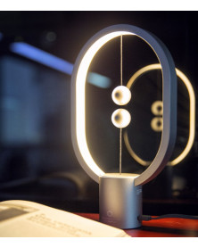 Lampe Heng Balance Ellipse Mini Aluminium Argent
