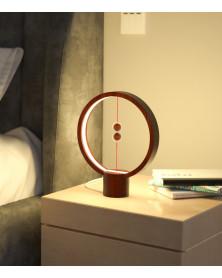 Lampe Heng Balance Ronde en bois foncé