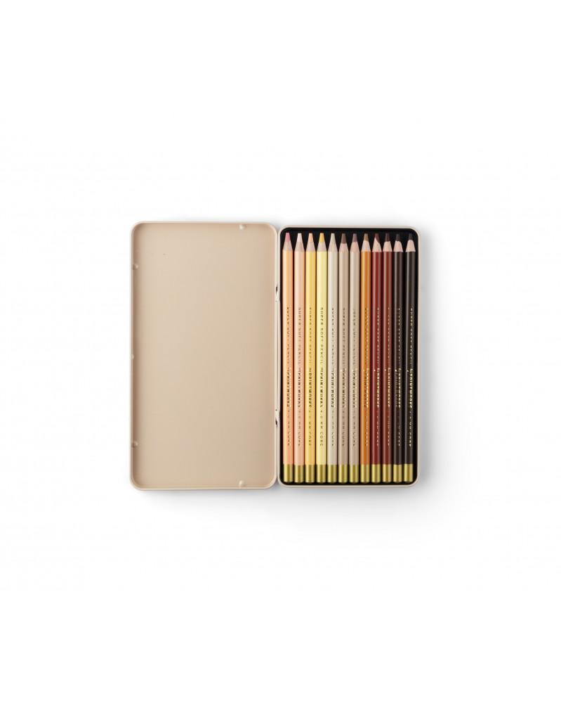 Boîte de 12 Crayons de Couleur - Skin Tone